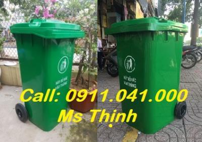 Thùng rác 120l 240l thùng rác nhựa công nghiệp lh 0911.041.000