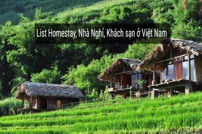Danh sách Homestay  Mộc Châu/ Sơn La