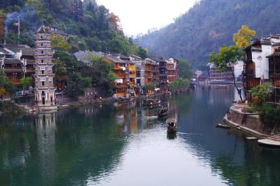 The picturesque old town in China