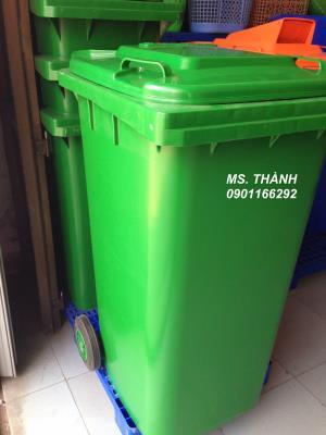 Thùng rác quảng trị HDPE 60l,120l,240l,500l,660l.0901166292