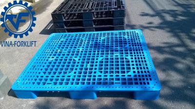 Bán pallet ở Phú Yên, Bình Định | Pallet nhựa 1100x1100x120mm màu xanh