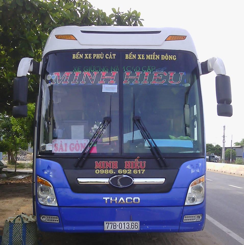 Xe khách Minh Hiếu: chạy tuyến cố định  Phù Cát đi Tp.Hồ Chí Minh và ngược lại .