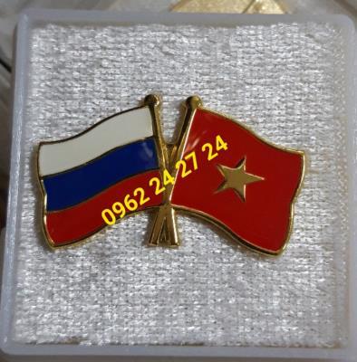 sản xuất cờ giao thương cài áo, huy hiệu cài áo, làm huân chương cài áo