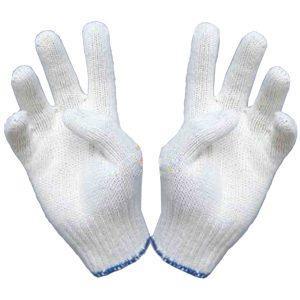 Găng tay len màu trắng