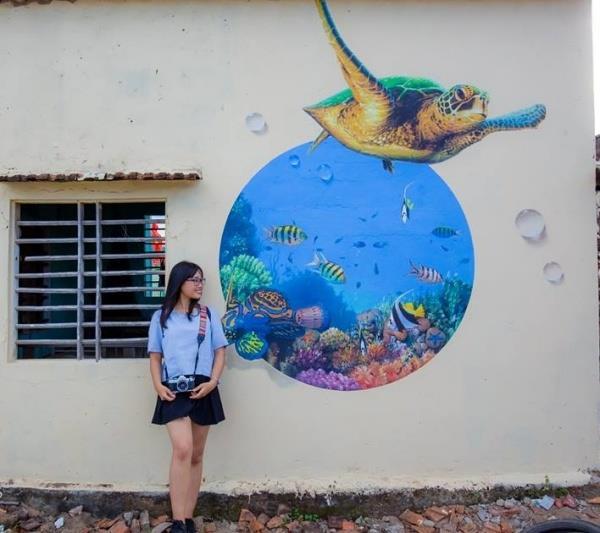Ghé thăm làng bích họa Thanh Tam, Quảng Nam